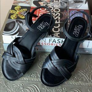 Franco Sarto Jovan Black Sandals